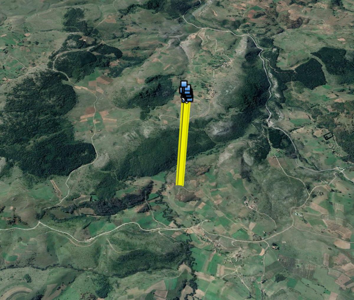 Posljednja zabilježena GPS točka supa Kvarnerića